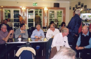 Members in Shoreham Airport bar.