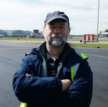 Me at Filton airfield just before it closed. Small ambition achieved...