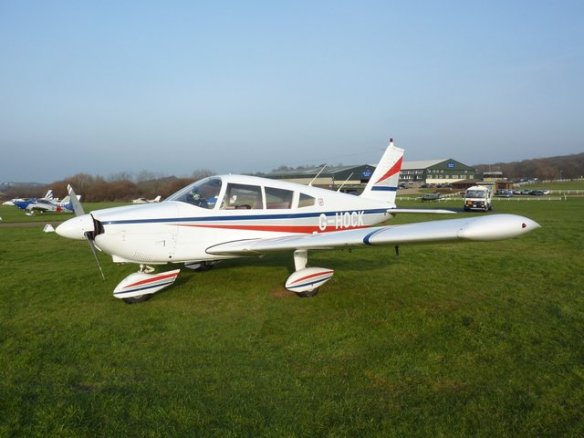 PA28-180 G-HOCK at Bembridge