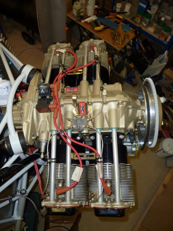 G-HUTY's engine – a Mattituck-built IO-360-M1B