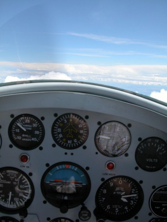 Over the Pyrenees at 13,000ft in Greg's RV-4