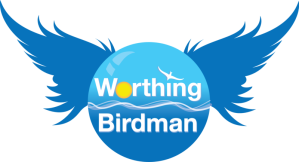 The Worthing Birdman logo.