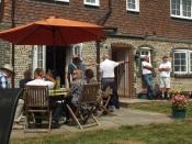 Group at farmhouse