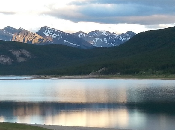 First evening in the Rockies where I heard the wolves