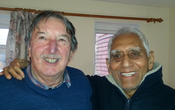Toon (right) with Don Lord, 3rd January 2015