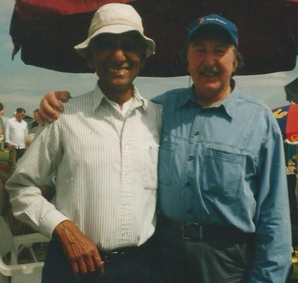 Toon Ghose and Don Lord standing together, Don's arm around Toon's shoulders.